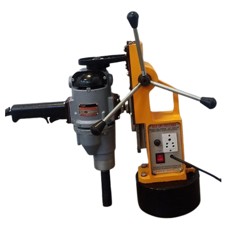 HL-ECO-200(LIGHT-DUTY MAGNETIC DRILL STAND WITH KPT MAKE CAP.23MM DRILL MACHINE)